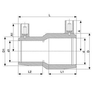 Cupla reducción PEAD E/F