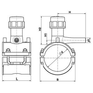 Váñvula de serv. PEAD E/F