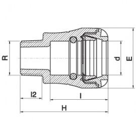 Acople de Compresión Rápido - Rosca Macho - Serie 1