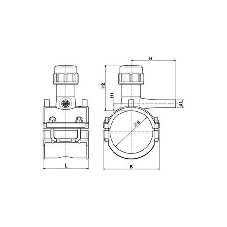 Válvula de Servicio Alto Volumen Pead Electrofusión