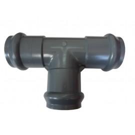 Ramal Inyectado 90º Reducido PVC Agua